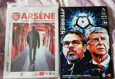 Arsene Wengers Final Arsenal Game Programme Huddersfield 3.5.18 Limited Edition