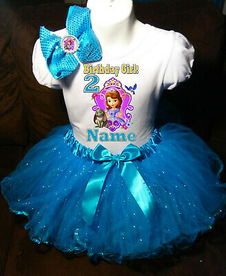 Sofia The First 5th Birthday Dress shirt 2pc pink Tutu outfit -With NAME-