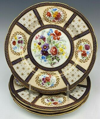"""Set Of 4 Paragon English Bone China Queen Mary Scalloped 9"""" Salad Plate NR SMS"""