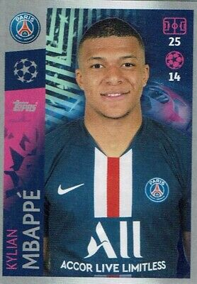 Topps Match Attax Champions League Sticker CL 19/20 No. 382 Kylián Mbappe Psg