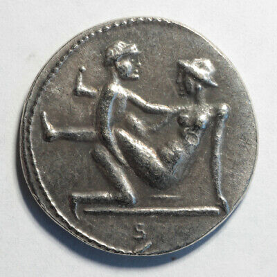 Caligula Coin Ancient Roman Empire Spintria Brothel Erotic Antique Token #8