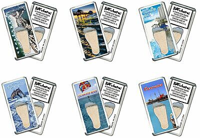 Clearwater FootWhere® Souvenir Fridge Magnets. 6 Piece Set. Made in USA