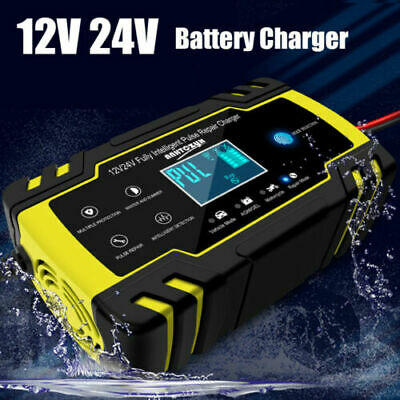 Fast Car Battery Charger Smart Automatic Motorcycle Intelligent Lead Acid 12/24V