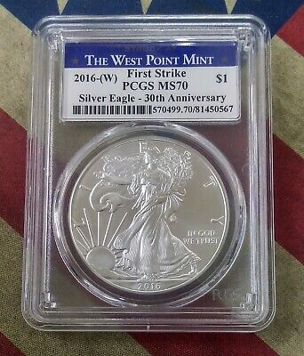 2016-(W) American Eagle Silver Dollar $ PCGS MS70 First Strike