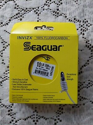 Seaguar InvizX Fluorocarbon Clear Fishing Line 200 Yards VZ200 Mainline//Leader