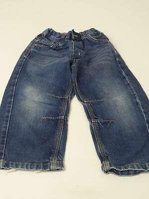 Boys Next Age 3-4 Years Blue Mid Wash Adjustable Waist Jeans