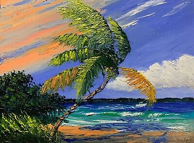 Knife Florida Oil Painting - Old Tampa Bay - Highwaymen Like - Lost Year Art