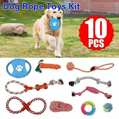 Tough Teething Braided Cotton Teeth Cleaner Pet Chew Knot Dog Rope Toys