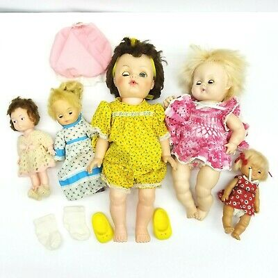 "Muffie 8/""Dolls String 3 Dolls with 3 Arm bands /& 6 Arm rings Fit Vintage Ginny"