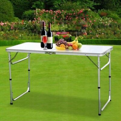 Heavy Duty 4Ft Folding Table Portable Plastic Camping Garden Party Catering New
