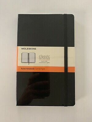 Moleskine Notebook Classic Black Large Ruled Hard Cover 5x8.25