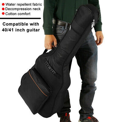 Black Full Size Passed Protective Classical Acoustic Guitar Back Bag Carry Case