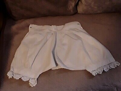 Antique Childs Clothing White Cotton Knickerbockers