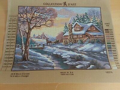 Collection d'Art Tapestry Canvas Winter Scene  10378