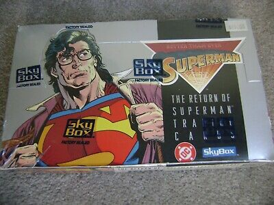Skybox The Return Of Superman Trading Cards Factory Sealed Box! 36 Packs Dc