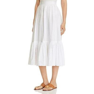 Tory Burch Womens Cotton Boho High Waist Midi Skirt BHFO 7675