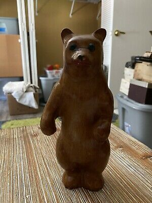 Vintage Wooden Bear From Alaska