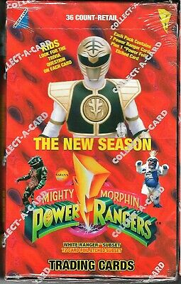 POWER RANGERS 1994 Collect-A-Card Factory Sealed 36 Pack New Season Retail Box