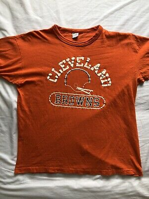 1980s Champion Made in USA Cleveland Browns spellout tshirt size XL