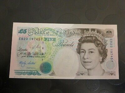 1999 Unc Bank of England Five Pound banknote