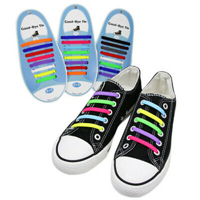 Elastic Shoelaces Silicone Rubber Shoelaces No Tie Running Shoes Sport Shoes_ws