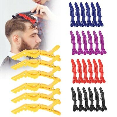 6Pcs Black Hairdressing Salon Matte Sectioning Clamp Hair Clip Hairpin Grip Claw