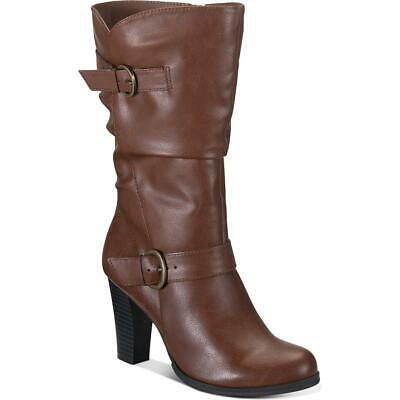 Style /& Co Womens Vedaa Faux Leather Knee-High Riding Boots Shoes BHFO 3898