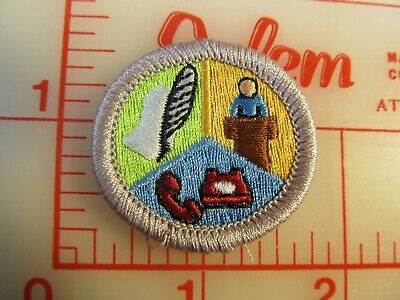BSA 2010 backed INSECT STUDY merit badge emblem patch rU