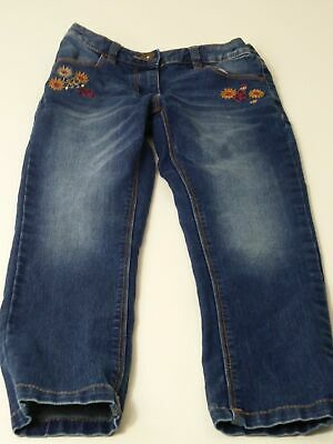 Boys Next Age 7 Years Blue Dark Wash Adjustable Waist Relaxed Skinny Denim Jeans