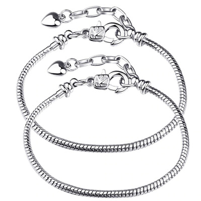 16-23cm Bracelet serpent européen charm charms compatible fermoir clasp LOVE