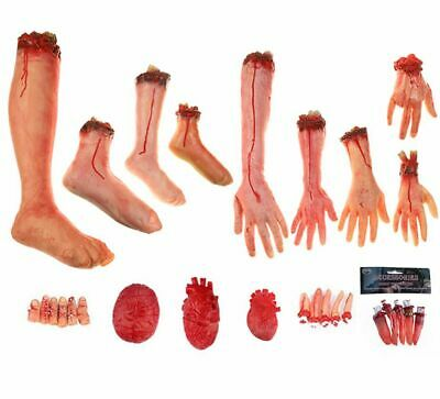 SEVERED ARM LEG RUBBER LATEX BODY PARTS HALLOWEEN COSTUME PARTY DECORATION PROP