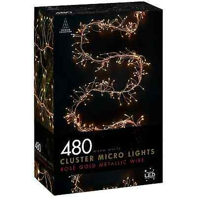 New Beautiful Christmas Cluster Micro Lights 480pk in Warm White