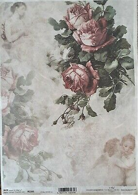 1 A4 Page of RICE PAPER for Decoupage or Scrapbooking R1226 SMALLFAIRIES PLAYIN