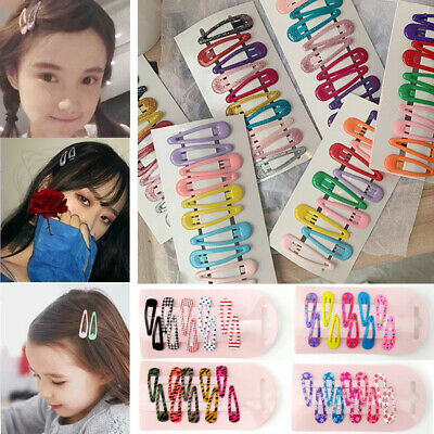 30X Boutique Girl Baby Kids Hair Clips Snap Hairpin Grip Candy Color Pretty Gift