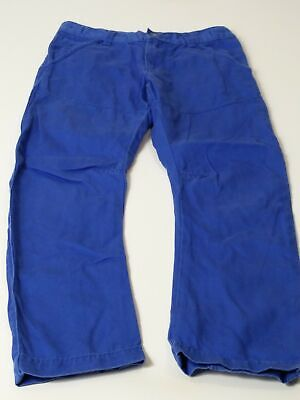 Boys Marks & Spencer Age 7-8 Years Blue Adjustable Waist Chino Trousers Jeans