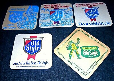 WI #027 Lot of 5 1980/'s Old Style//Special Ex beer coasters-Heileman of LaCrosse