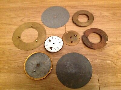 Antique Clock Dial Mounts and Plates Ex Clockmakers Spare Parts