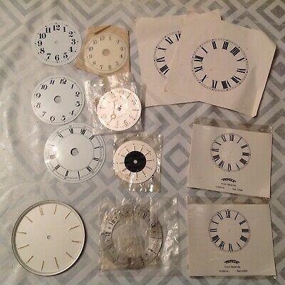 Vintage Clock Dial Face Collection incl New Old Stock Ex Clockmakers Spare Parts