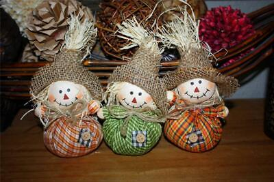 6 MINI SMALL SCARECROW HATS FALL CRAFTS VASE FILLER THANKSGIVING HOME DECOR NEW