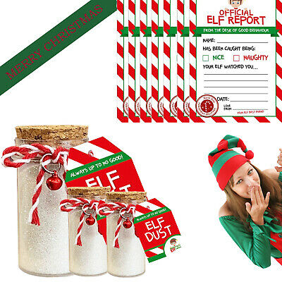 Elf Accessories Props Elf Dust Report On Shelf  Advent Toy Christmas Game Jokes