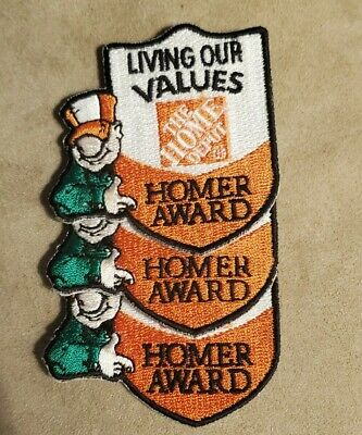 """The Home Depot /""""living our values/"""" Homer award iron on patch"""