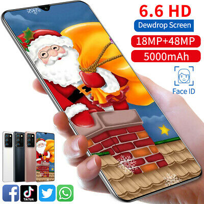 """Cheap 6.6"""" Dual Sim Quad Core Android Smartphone Face Unlocked Mobile Phone GPS"""
