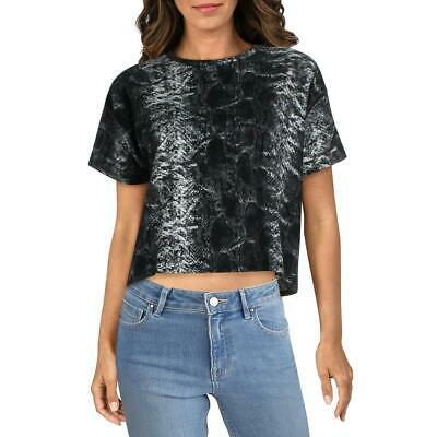 French Connection Womens apres ski Graphic Cropped T-Shirt Top BHFO 9235