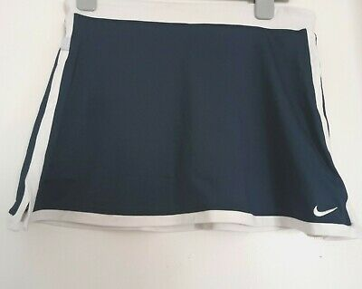 Nike Tennis Girls Border Navy Blue And White Skort  Size Xl, Age 13/15