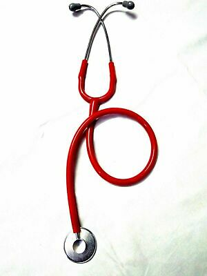Stethoscope Single Head Medical Nurse Doctor Student Lightweight in Red