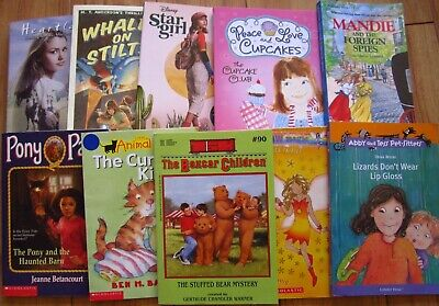 Lot of 10 Girls Chapter Books Youth Children