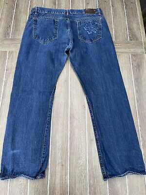 Vintage Zoo York Denim Blue Jeans Unbreakable Denim Men's Sz 4032 Dark Wash Blue