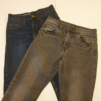 2 Pairs Next Carrot Skinny Denim Jeans Blue Grey Age 7 Kids Boys Excellent Cond