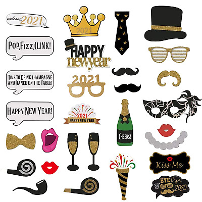 18//21st//30//40//50//60th 34PCS Birthday Party Photo Booth Props On Stick Selfie C3