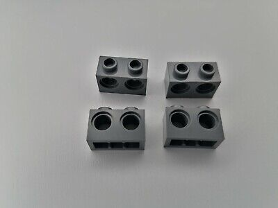 X 2 LEGO Bricks 1x2 with 2 Holes Part 32000 grey//yellow//white//red